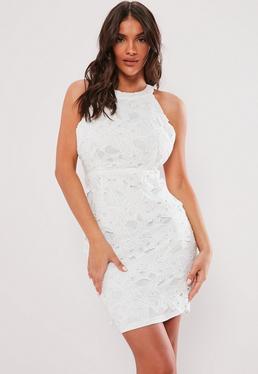 484e13df1b3 ... Petite White Open Back Lace Mini Dress