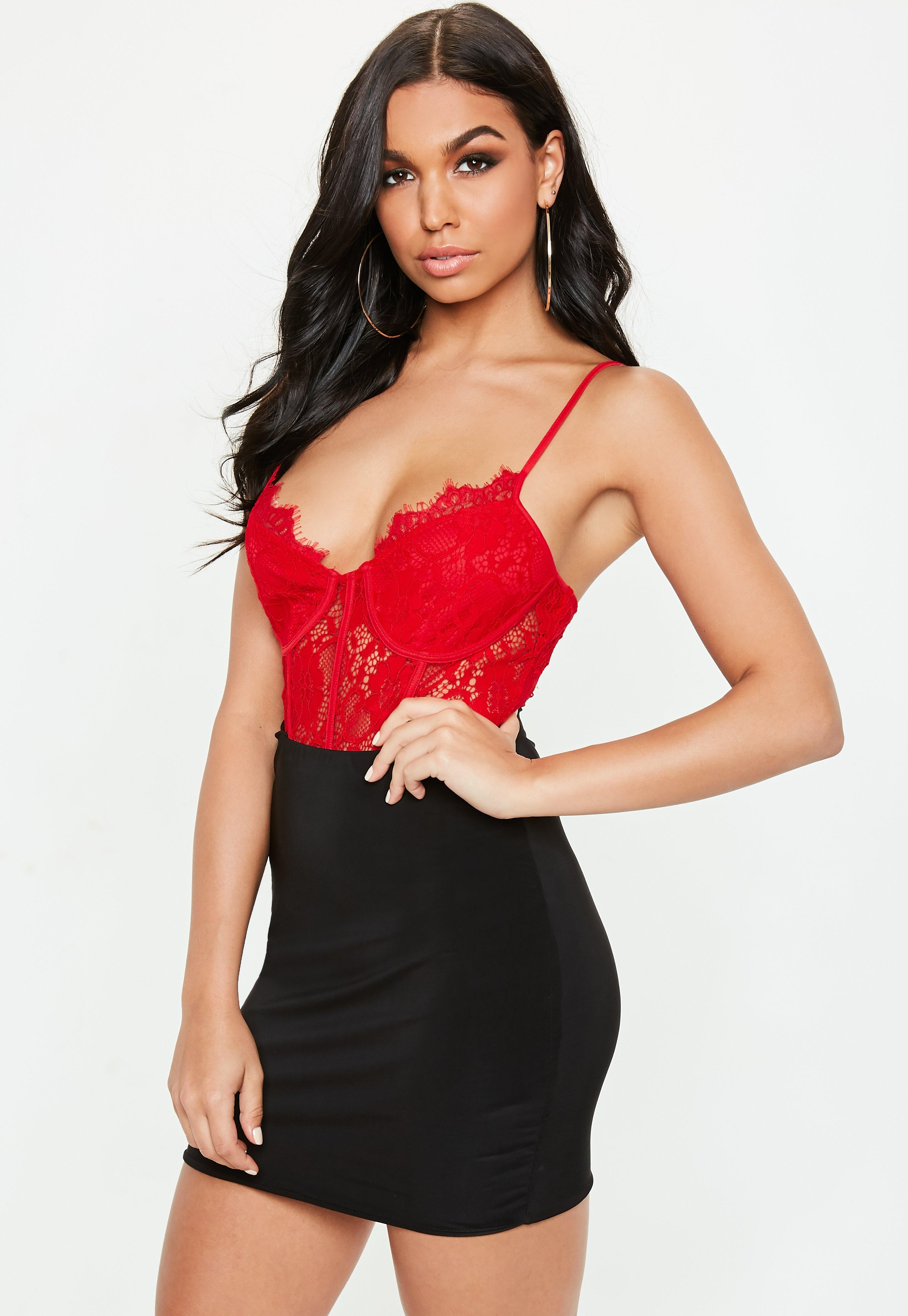 170cb806bd23 Red Bodysuits - Missguided