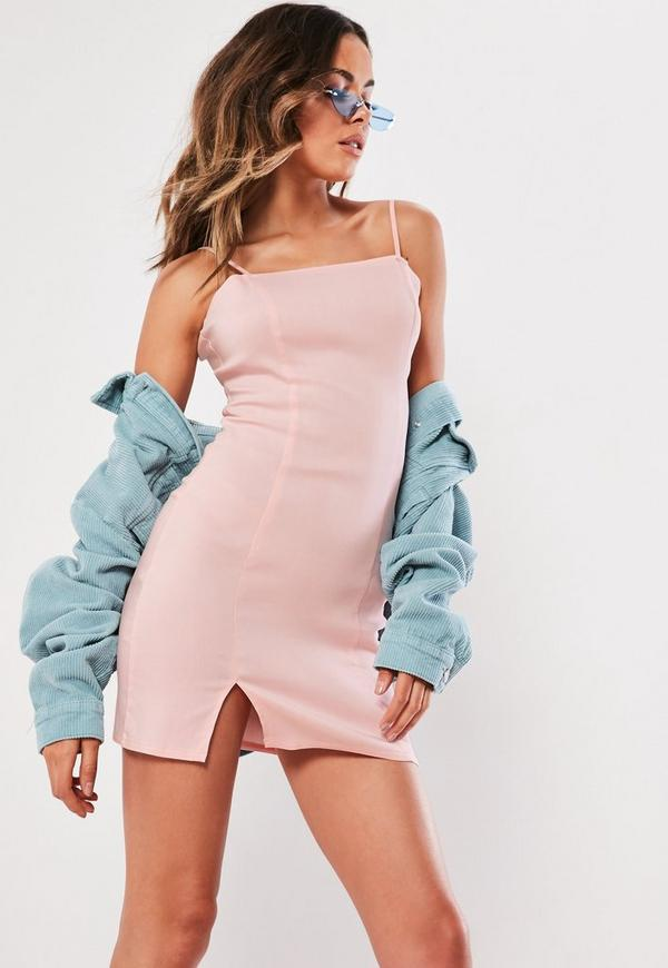Petite Pink Cami Bodycon Mini Dress