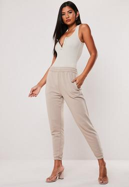 2fc684a2d2815 Petite Sand High Waisted Tapered Leg Joggers