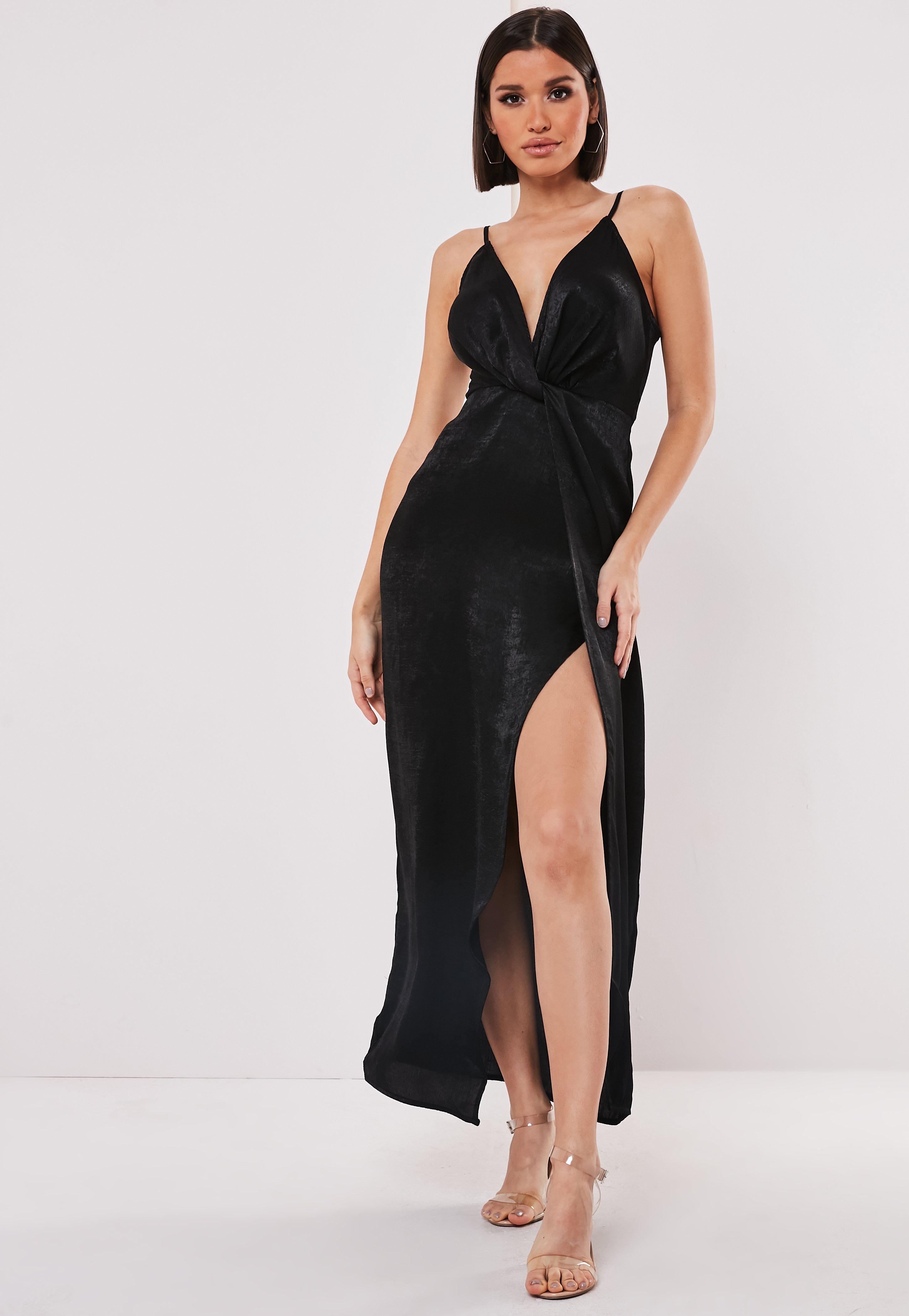 5d625fba014 Deep V Neck Dress - Plunging Neckline Dresses