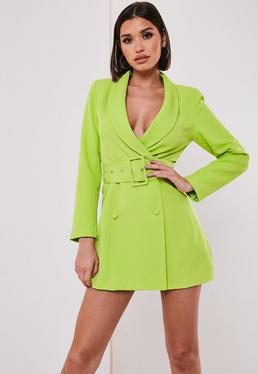 409cba42a31 Black Milkmaid Bodycon Midi Dress  Petite Lime Belted Blazer Dress