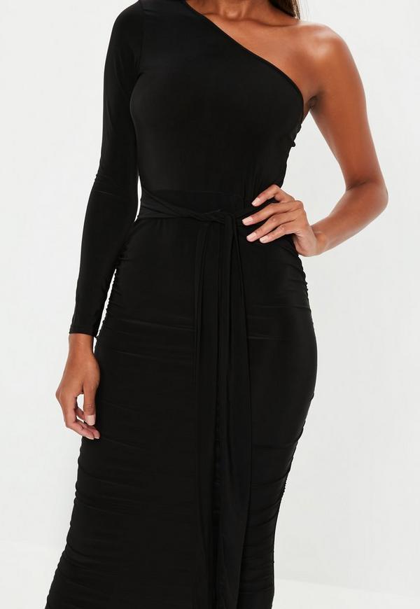 Next black bodycon dress with belt z force secret wear