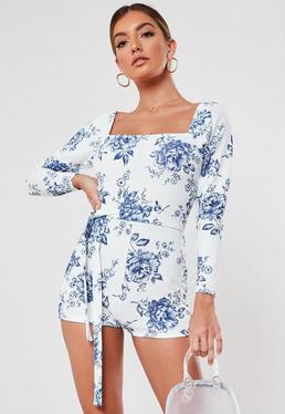82f3cc6f9 Floral Romper, Floral Print Rompers | Missguided