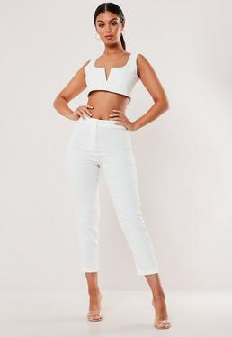 e6d2f5517feafd White Trousers | Women's White Trousers Online - Missguided