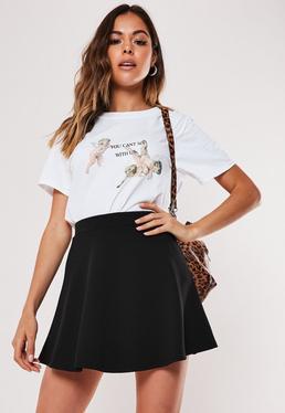 Миниатюрная юбка миниатюрного черного цвета Skater