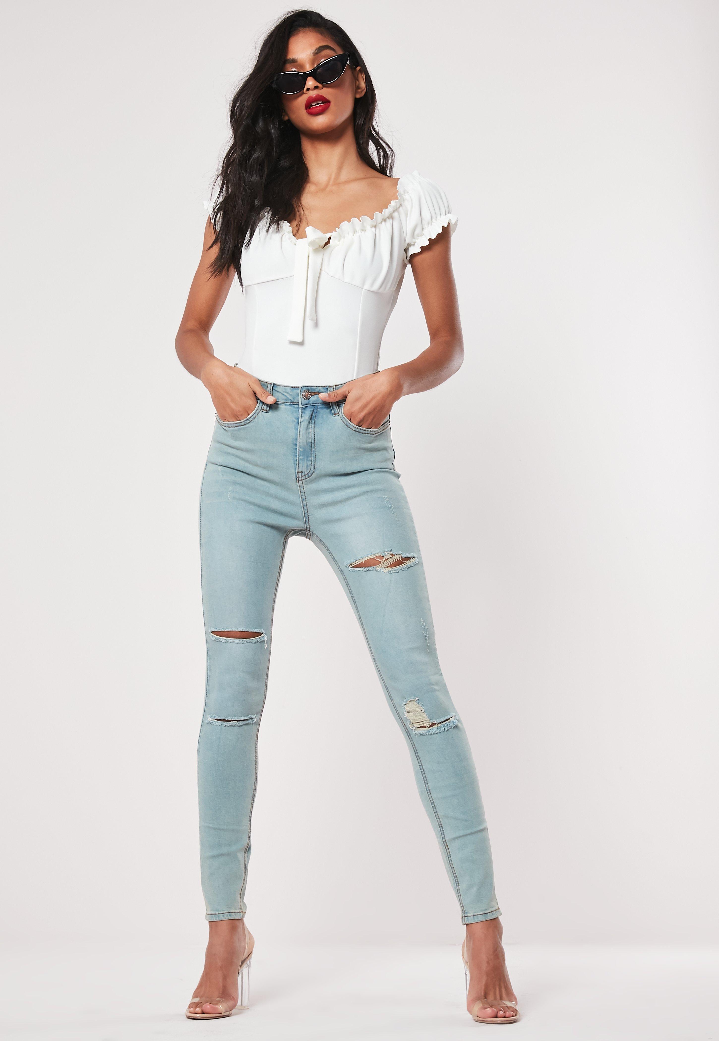 586cf46a2 Jeans skinny bleu déchiré Petite
