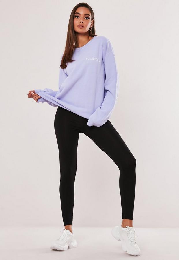 petite black basic jersey leggings